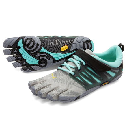 W's FiveFingers - V-Train - Grey/Black/Aqua