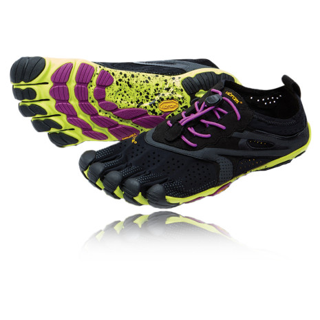 W's Vibram FiveFingers V-RUN - Black/Yellow/Purple